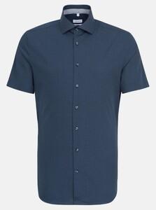 Seidensticker Mini Dot Short Sleeve Overhemd Navy