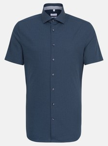 Seidensticker Mini Dot Short Sleeve Shirt Navy