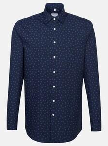 Seidensticker Mini Pattern Business Kent Shirt Lilac