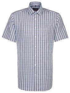 Seidensticker Modern Business Check Overhemd Pastel Blauw