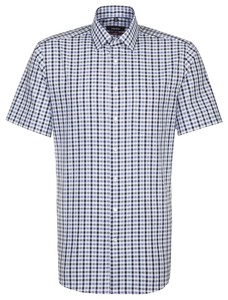 Seidensticker Modern Business Check Shirt Pastel Blue