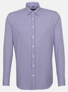 Seidensticker Multi Check Hidden Button Down Overhemd Lila