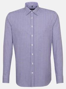 Seidensticker Multi Check Hidden Button Down Shirt Lilac