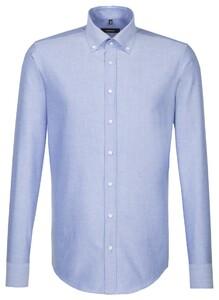 Seidensticker New Button Down Uni Overhemd Intens Blauw
