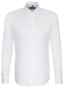 Seidensticker New Button Down Uni Overhemd Wit