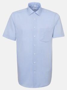 Seidensticker Non Iron Chambray Overhemd Intens Blauw