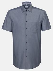 Seidensticker Non Iron Chambray Overhemd Navy