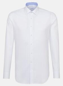 Seidensticker Oxford Dotted Kent Overhemd Intens Blauw