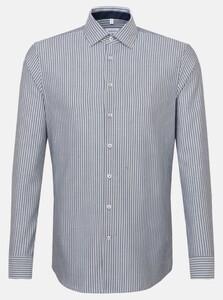 Seidensticker Oxford Stripe Light Business Kent Overhemd Navy