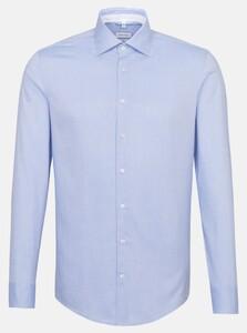 Seidensticker Oxford Uni Kent Overhemd Intens Blauw