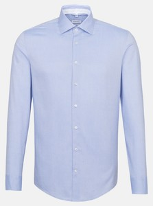 Seidensticker Oxford Uni Kent Shirt Deep Intense Blue