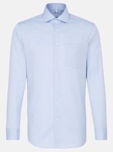 Seidensticker Oxford Uni Spread Kent Overhemd Blauw