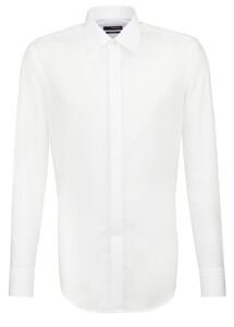 Seidensticker Party Kent Kraag Shirt White