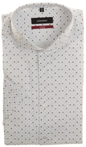 Seidensticker Petal Pattern Overhemd Wit