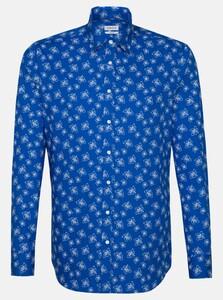 Seidensticker Poplin Bright Fantasy Shirt Sky Blue Melange