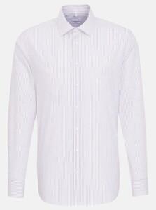 Seidensticker Poplin Business Stripe Kent Overhemd Rosé