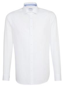 Seidensticker Poplin Mini Dot Contrast Shirt Deep Intense Blue
