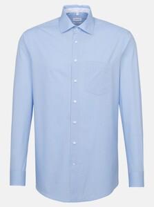 Seidensticker Poplin Mini Dotted Circle Overhemd Blauw