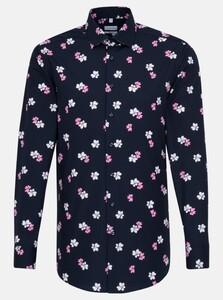 Seidensticker Poplin Multi Color Flower Overhemd Rosé