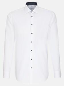 Seidensticker Poplin Non Iron Business Kent Overhemd Wit