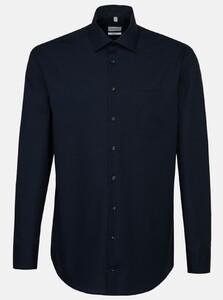 Seidensticker Poplin Non Iron Business Kent Shirt Navy