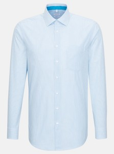 Seidensticker Poplin Stripe Business Kent Shirt Turquoise