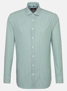 Seidensticker Poplin Striped Non Iron Overhemd Groen