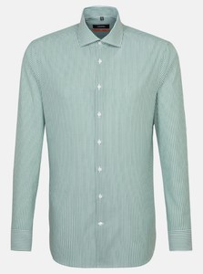 Seidensticker Poplin Striped Non Iron Shirt Green