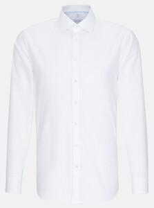 Seidensticker Poplin Uni Business Kent Overhemd Wit
