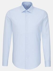 Seidensticker Poplin Uni Business Kent Shirt Blue