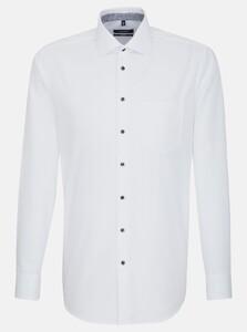 Seidensticker Poplin Uni Business Kent Shirt White