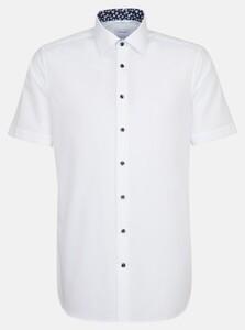 Seidensticker Poplin Uni Contrast Shirt White