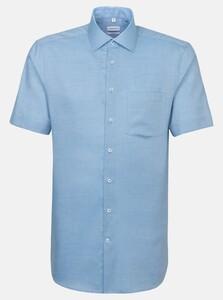 Seidensticker Short Sleeve Business Kent Overhemd Turquoise