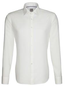 Seidensticker Slim Business Kent Overhemd Off White