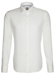 Seidensticker Slim Business Kent Shirt Off White