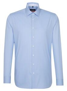 Seidensticker Slim Fine Dot Overhemd Blauw