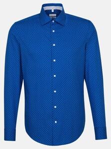 Seidensticker Slim Fine Dot Shirt Sky Blue Melange