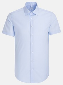 Seidensticker Slim Short Sleeve Kent Shirt Pastel Blue