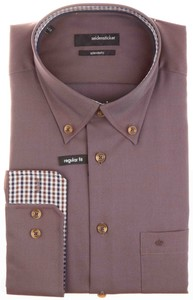 Seidensticker Sporty Contrasted Dress Shirt Shirt Brown