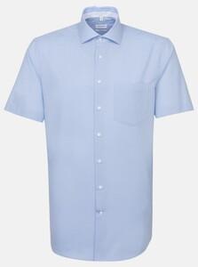 Seidensticker Spread Kent Short Sleeve Overhemd Blauw