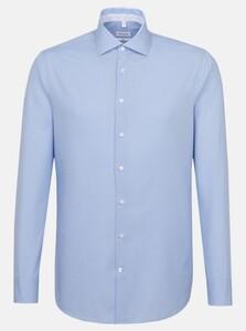 Seidensticker Spread Kent Uni Overhemd Blauw