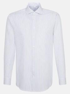 Seidensticker Striped Light Spread Kent Overhemd Sky Blue Melange