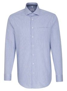 Seidensticker Striped Light Spread Kent Shirt Sky Blue Melange