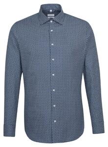 Seidensticker Structure Fantasy Contrast Shirt Dark Evening Blue