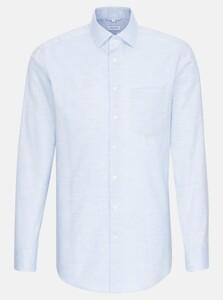 Seidensticker Structure Faux Uni Shirt Light Blue