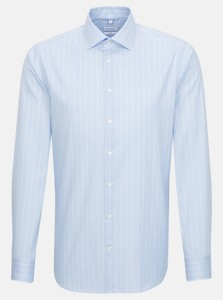 Seidensticker Twill Striped Kent Shirt Light Blue
