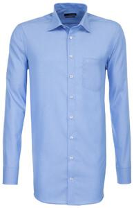 Seidensticker Uni Extra Mouwlengte Overhemd Midden Blauw