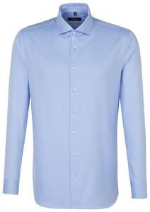 Seidensticker Uni Fine Structure Overhemd Aqua Blue
