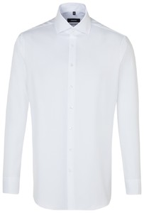 Seidensticker Uni Fine Structure Overhemd Wit