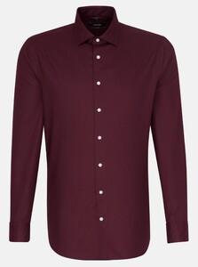 Seidensticker Uni Kent Overhemd Merlot